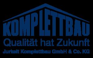 Logo blau Komplettbau - Qualitaet hat Zukunft / Jurkeit Komblettbau GmbH & Co. KG