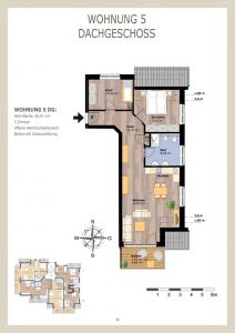 Sahlenburgerweg Wohnung 5 Ansicht Aufteilung Wohnung